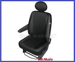 couvre siege cuir driver s seat covers black eco leather cloth fabric for renault
