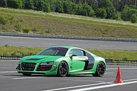 Audi R8 Upgrades - green audi r8 v10 upgraded by racing one