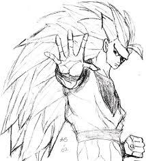 dragonball z goku sketch by liongirl2289 on deviantart