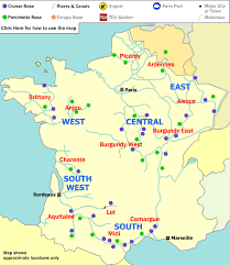 map of poitiers boating holidays in boat bases map