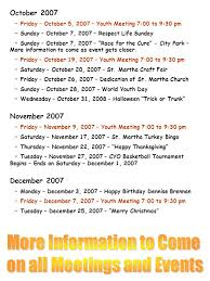we re kicking a new year of events calendar august 2007 friday