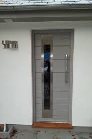 this contemporary door looks great with it u0027s stainless steel