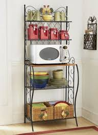 Storage Bakers Rack Kitchen Bakers Rack Storage Shelves Microwave Cart Stand Shelf