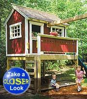 simple outdoor playhouse plans plans diy free download garage