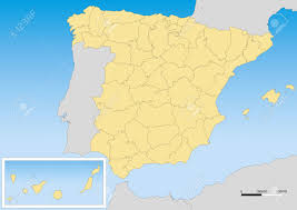 Map Of Spain by Map Of Spain With Provinces And Islands Scale 1 5000000 Utm