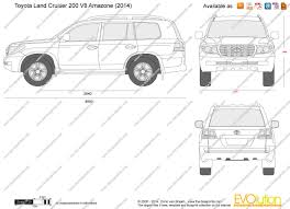 lexus v8 dimensions the blueprints com vector drawing toyota land cruiser 200 v8