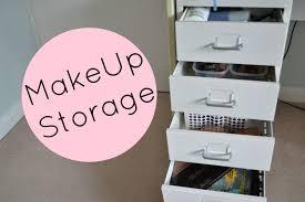 make up storage ikea helmer helsbels youtube