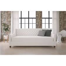 savings scribner button tufted linen daybed with trundle by three