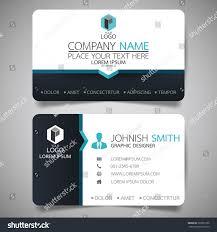 blue modern creative business card name stock vector 569951926