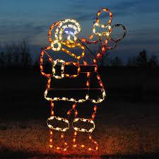 animated waving santa c7 led light display 7 5 ft h
