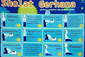 tutorial sholat dan bacaannya tata cara sholat gerhana bulan beserta niat dan bacaannya islam