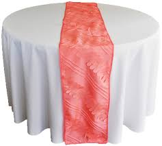 cheap coral table runners coral forest taffeta table runners