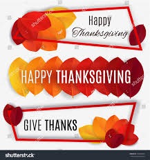 thanksgiving day banners happy thanksgiving banner thanksgiving background vector stock