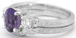 amethyst engagement ring sets amethyst engagement ring gr 2075