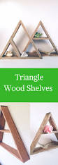 home decor storage hand stained triangle wood shelf home decor storage oak wood