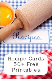 free printable recipe pages 55 free printable recipe cards a nice collection tipnut com