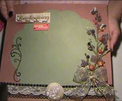 how to make a thanksgiving scrapbook layout allfreeholidaycrafts