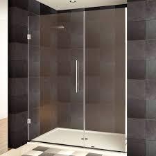 Shower Door 36 Lesscare 36 54 X 72 Inch Frameless Chrome Finish Clear Glass