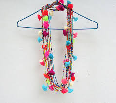 beaded necklace with tassel images Festival tassel necklace wholesale seed bead necklace long jpg