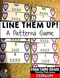 pattern games for third grade this valentine s day center is perfect for the month of february