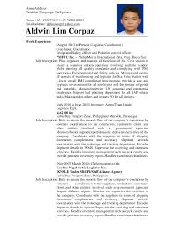 Resume Espanol Aldwin Corpuz Resume