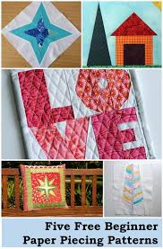 5 paper piecing patterns for beginners