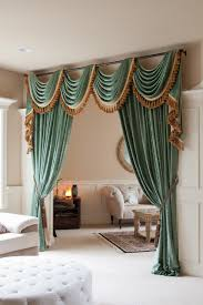 Curtain Swag Hooks Picture Of Green Chenille Flip Pole Swag Style Dyi Home