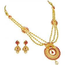 gold necklace set jewellery images Precia gold necklace set neprsva0723 jpg