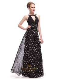 fancy maxi dresses black and white polka dot dress black halter neck maxi