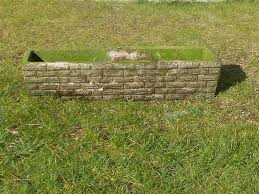 Garden Wall Troughs by Stylish Retro 1960 U0027s 1970 S Brick Effect Garden Trough Planter