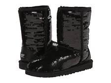 womens boots ugg style black sparkle uggs boots ebay