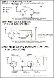 motor run capacitor wiring diagram compressor single phase how to