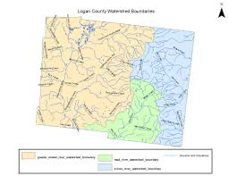 Ohio Rivers Map by Watersheds Logan County Oh Official Website
