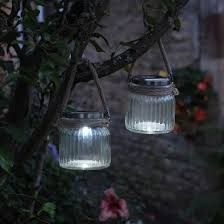 Solar Garden Tree Lights by Solar Powered Rustic Glass Garden Lanterns