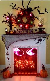 halloween fireplace homemade halloween decorations for outside