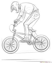 how to draw a bmx biker super coloring