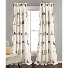 Yellow Gray Curtains Lush Décor Yellow U0026 Gray Rowley Birds Curtain Panel 285 Dkk