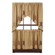 Primitive Swag Curtains Stratton Burlap Applique Swag Curtains Primitive Quilt