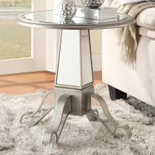 round silver accent table silver glass accent table steal a sofa furniture outlet los angeles ca