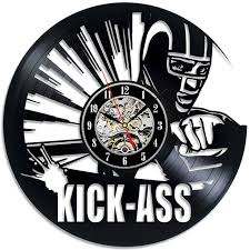 theme clock kick cd record wall clock marvel comics theme