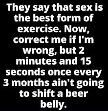 Sex Meme Quotes - sex is the best form of exercise funny quotes meme collection