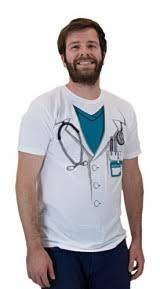 Jumbo Halloween Costumes Doctor White Lab Coat Jumbo Print Novelty Halloween Costume