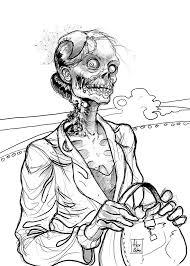 dessins gratuits à colorier coloriage zombie à imprimer