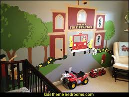 Decorating Theme Bedrooms Maries Manor Fire Truck Bedroom Decor - Firefighter kids room
