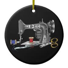 sewing machine ornaments keepsake ornaments zazzle