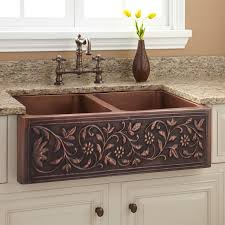 sinks antique bronze kitchen faucet and copper divided kitchen