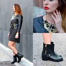 biker boot style alexandra g zara biker boots h u0026m jacket zara neckalce h u0026m