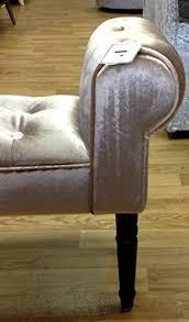 Shabby Chic Chaise by Glitz Diamante Shabby Chic Chaise Longue Pouffe Stool Mink