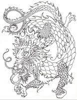 chinese dragon sketch by dragonspark on deviantart