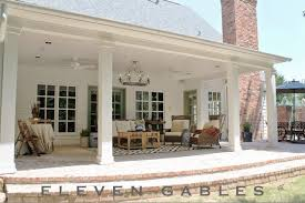 patio ideas porch and eleven gables back outdoor living awful